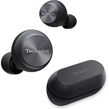 Technics True Wireless Earbuds with Industry Leading Noise Cancelling | Bluetooth Earbuds | Dual Hybrid Technology, Hi-Fi Sound, Compact Design | Alexa Compatible | (EAH-AZ70W-K), Black