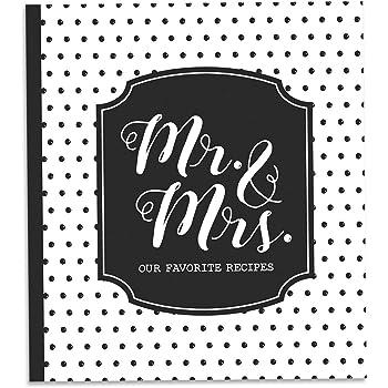 """Brownlow Gifts Gifts Recipe Binder Set, 8"""" x 9"""", Mr. & Mrs"""