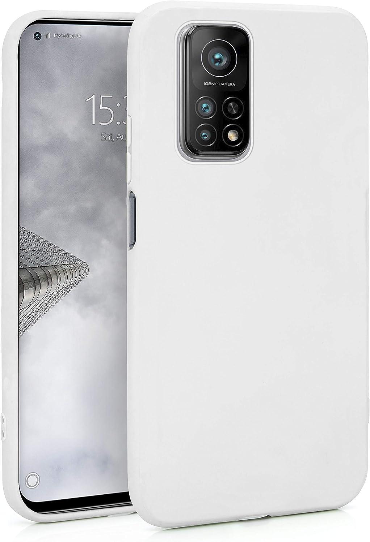 MyGadget Funda para Xiaomi Mi 10T Pro en Silicona TPU - Carcasa Slim & Flexible - Case Resistente Antigolpes y Anti choques - Ultra Protectora - Blanco