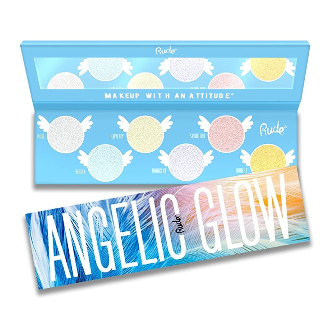 閃光剥離是正(3 Pack) RUDE Angelic Glow Highlighter + Eyeshadow (並行輸入品)