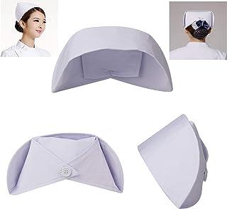 sansheng 3PCS nurses'caps/Red Cross Nurses' caps - Accessories for nurses'clothes/Female Nurses' caps (White)