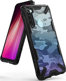 جراب Ringke Fusion-X DDP متوافق مع هاتف Xiaomi Redmi Note 8 ذو ظهر صلب ناعم مقاوم للصدمات لهاتف Redmi Note 8 - أسود مموه