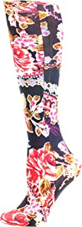Celeste Stein Therapeutic Compression Socks, Red Roses, 8-15 Mmhg, Mild