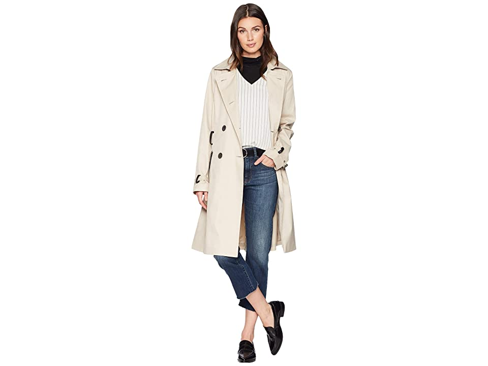 Sam Edelman Double Breasted Trench Coat w/ Belt (Sand) Women