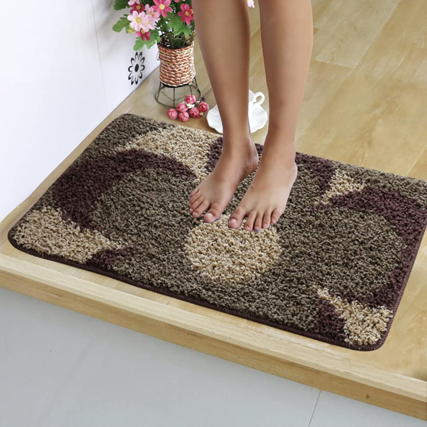 Bathroom Floor Mat, Cozy Non-Slip Thick Mat, Kitchen Floor Doorway Balcony Corridor, Strong Water Absorption-F 80x120cm(31x47inch)