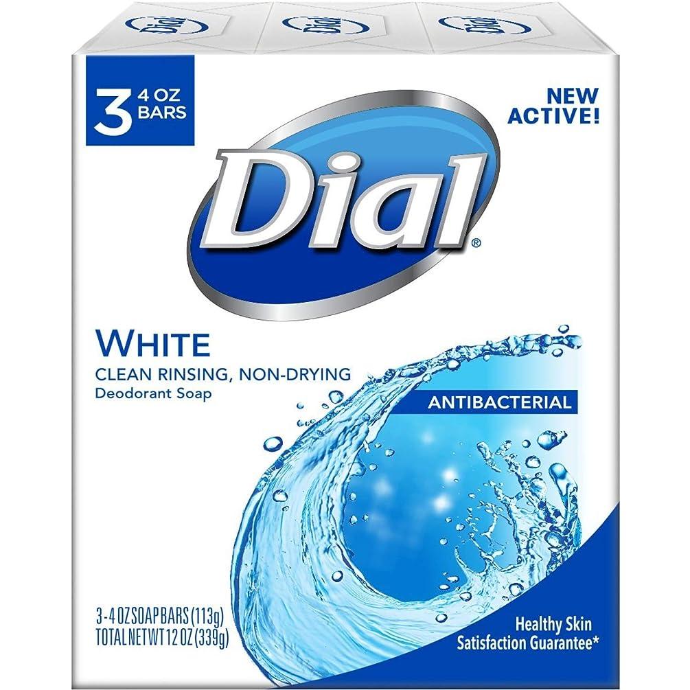 チケット年次親指Dial ホワイト抗菌消臭石鹸3 Pkは(18パック)