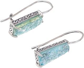 925 Sterling Silver Glass Drop Earrings, Roman Towers'
