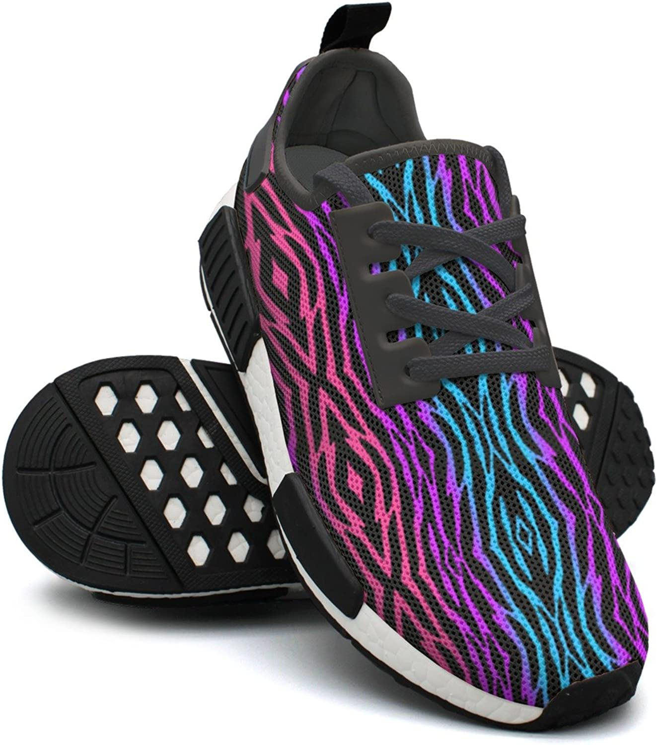 Rainbow Purple Zebra Skin Print Tennis Gym Womans Running shoes NMD