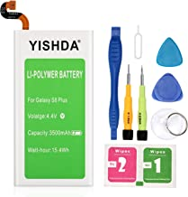 Galaxy S8 Plus Battery, YISHDA 3500mAh Replacement Samsung Galaxy S8 Plus Battery EB-BG955ABE with Tools for G955 G955F G955A G955U G955V | Samsung S8 Plus Battery Kit [18 Month Warranty]