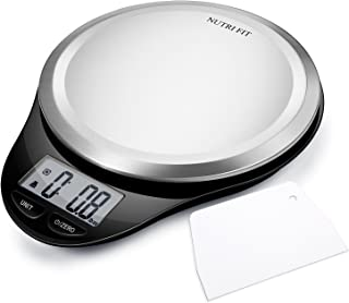 Digital Kitchen Scale with Dough Scraper, NUTRI FIT High Accuracy Multifunction Food..