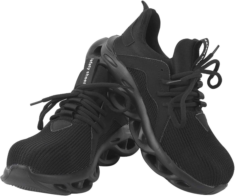 Men Steel Toe Shoes Anti‑Smashing Breathable Safety Washington Mall Hea unisex