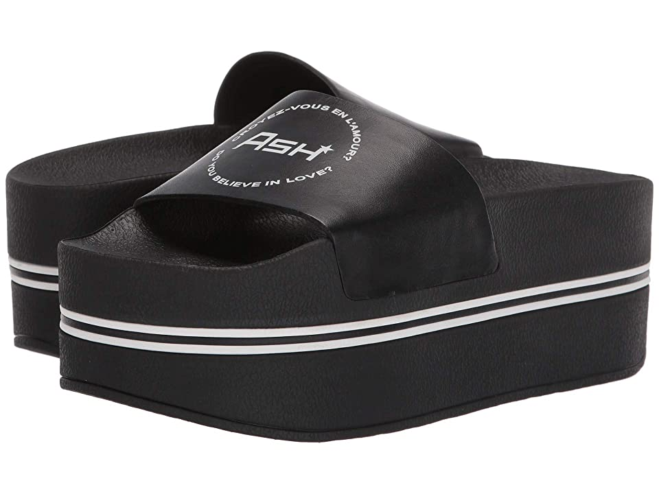ASH Platform Slide (Nappa Calf Black) Women