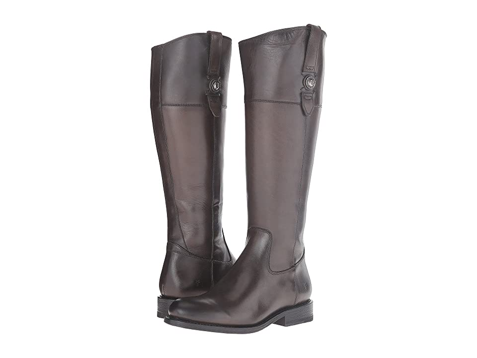 Frye Jayden Button Tall (Graphite Smooth Vintage Leather) Cowboy Boots
