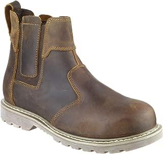 Detalles de Dunlop Dealer sin Cordones Botas Seguridad Hombre Marrón Zapatos de Trabajo
