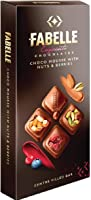 Fabelle Milk Choco Mousse with Nuts and Berries Bar, Centre-Filled Luxury Chocolate Bar with Visibly Topped Nuts &...