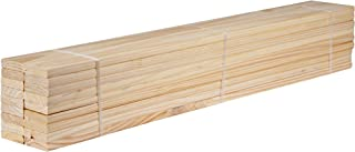 """Palace Imports Pack of 18 Loose 100% Solid Pine Wood Slats for Twin Size Beds and Bunk Beds, 39.5""""L x 2.75""""W x 0.75""""H"""