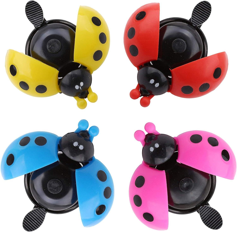 WENTS Cheap bargain Bicycle Bell Ladybug Max 82% OFF Meta Bike Ladybird Alarm
