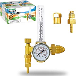 Manatee Argon Regulator TIG Welder MIG Welding CO2 Flowmeter 10 to 60 CFH - 0 to 4000 psi pressure gauge CGA580 inlet Connection Gas Welder Welding Regulator Accurate Gas Metering System