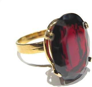 anillo Granate Oro 750%
