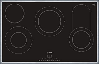 Bosch 80 cm, 4 Ceramic Burners Electric Hob, Black finish - PKC845FP1M, 1 Year Warranty
