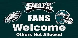 Philadelphia Eagles Wood Sign - Fans Welcome 12