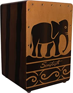 Sawtooth Harmony Series Hand Stained Elephant Design Compact Cajon