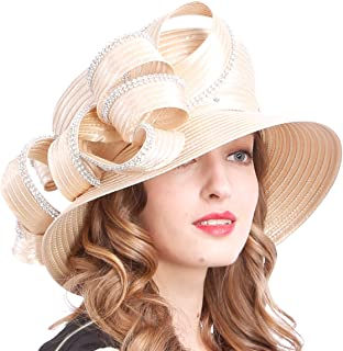 VECRY Womens Tea Party Church Baptism Kentucky Derby Dressy Hat