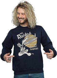 Looney Tunes Men's Wile E Coyote Rocket Board Sweatshirt