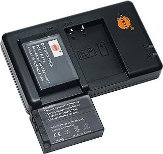 バッテリーパック LP-E17 互換バッテリー 2個 + 充電器 セット (大容量 950mAh USB 急速充電) Canon EOS-X8I,750D,760D,800D,850D,200D,200DII,77D,M3,M5,M6,RP,E...