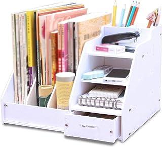 Bookshelf, Office Supplies, Desktop Folder Storage Box, Information Rack, Book Tool Rack, For Office, Study, Bedroom XJJUN...