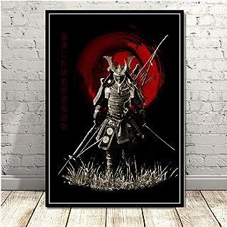 ZSHSCL Impressions sur Toile,L'Armure Japonaise Samurai Warrior Aucun Cadre d'art Peinture sur Toile Imprime Poster Art Wa...