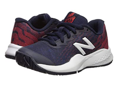 New Balance Kids KC996v3 Tennis (Little Kid/Big Kid) (Black/Red) Kids Shoes