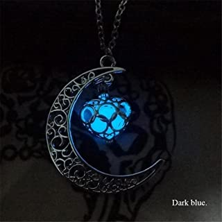 glow in the dark necklace moon