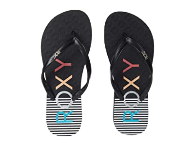 Roxy Kids Viva Stamp II (Little Kid/Big Kid) (Black Pinstripe) Girl