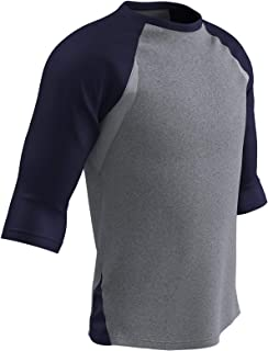 Champro Extra Innings 3/4 Sleeve Baseball Shirt; M; Grey