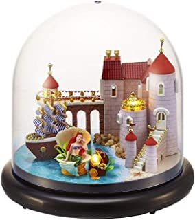 Miniature DIY House Kit  Music Box Handmade   Room dollhouse Toy Gift Mermaid Theme
