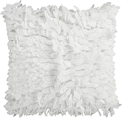 Amazon.com: LVOW Real Feather Pearl Throw Pillow Case ...