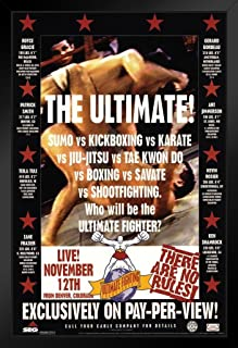 Pyramid America Official UFC 1 First Event 1993 Sports Black Wood Framed Art Poster 14x20