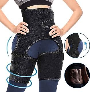 CAMTOA 3 in 1 Waist Thigh Trimmer and Butt Lifter, Waist Trainer Butt Lifting Thigh Trimmer for Women Weight Loss Hip Enhancer Shapewear Body Shaper Slimming Belt Workout Fitness Support