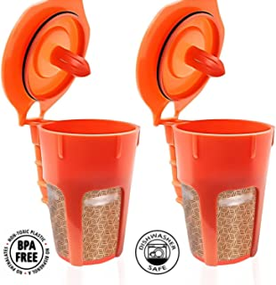 Fill N Save 2 Pack Reusable Carafe K-Cups. Reusable coffee filter for the Keurig 2.0, K200, K300, K400, K500 Series of Machines. Refillable K Carafe Pods
