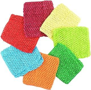 "BERON Pack of 7 6"" Handmade Baby Girl Silk Crochet Tutu Tube Top Chest Wrap for Toddler Infants(AID27-B)"