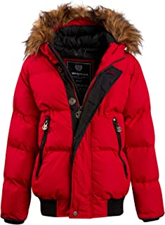 J. Whistler Boys Heavy Hooded Puffer Winter Jacket
