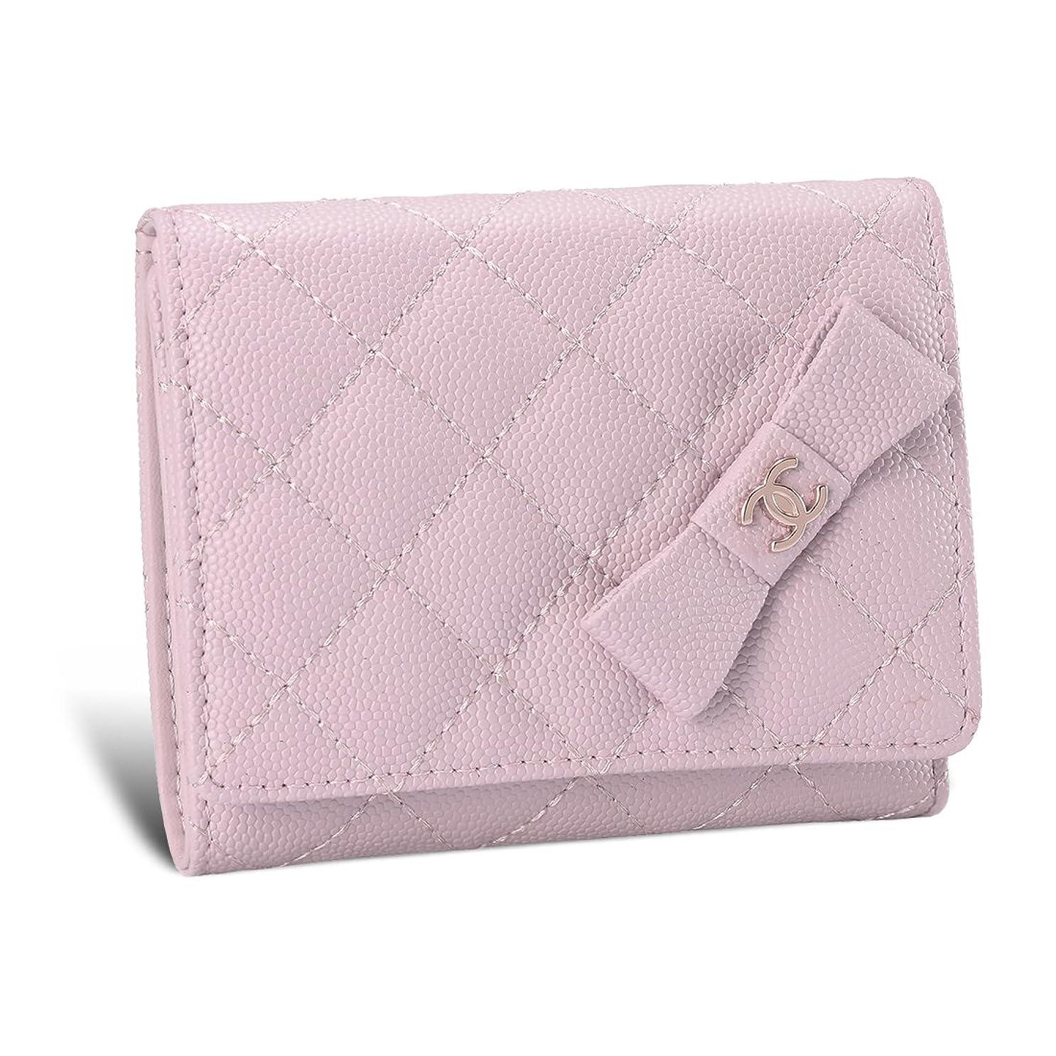 情熱的スタイルる財布 レディース 二つ折り ミニ財布 キャビアスキン レザー マトラッセ 大容量 カード収納 ボックス型小銭入れ 人気 軽量 女性用 かわいい