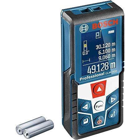Bosch Professional Télémètre laser GLM 500 (portée : 0,05 m - 50 m, plage d'inclinaison : 0 – 360°, précision de mesure : +/- 1,5 mm, 2 piles AAA, dans boîte en carton)
