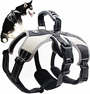 Mihachi Secure Dog Harness - Escape-Proof Reflective Dogs Vest with Lift Handle for Training Outdoor Adventures