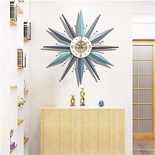 RSBCSHI Horloge Murale de Starburst de 23 Pouces Mid-Century, Grande Pile d'horloge de Sunburst Design Moderne, Mouvement ...