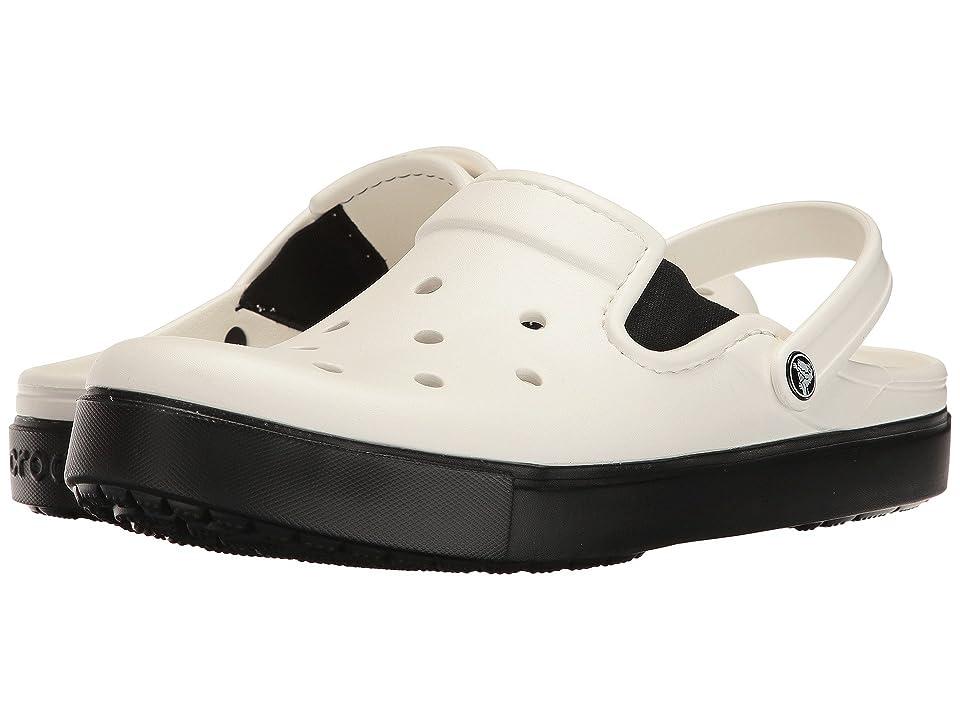 Crocs CitiLane Clog (White/Black) Clog Shoes