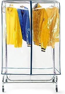 Tatkraft Screen skärmskydd för klädskenor håller kläderna fria från damm och smuts, klädskyddsskydd med dragkedja, transpa...