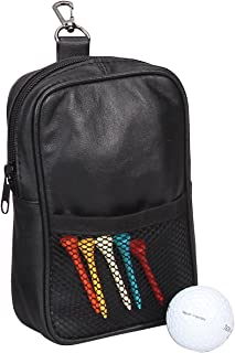 Bellino Leather Golf Pouch Black
