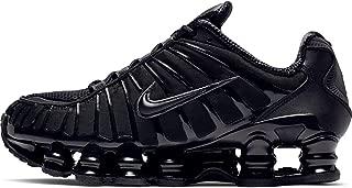 W Shox Tl Womens Sneakers AR3566-002, Black/Black-Metallic Hematite-Max Orange, Size US 7.5